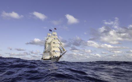 De bark EUROPA komt Den Haag - Bark EUROPA oceanwanderer
