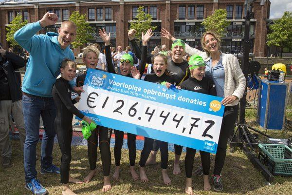 Opbrengst Haarlem Swim to Fight Cancer - Foto Michel van Bergen